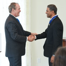 Nine Years Later, President Bush Presents 2007 Presidential Medal of Freedom  in Person to Dr. Oscar Elias Biscet of Cuba