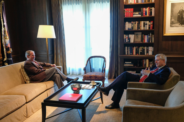 President Bush and Prime Minister Harper Discuss the Future of Globalization