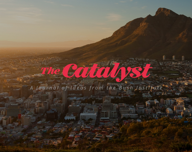 In this issue of The Catalyst, we present a wide-ranging set of articles and authors who address tomorrow's Africa. Our lineup includes contributors who discuss the powerful forces transforming the continent and the realities that stand in Africa's way, including serious health care challenges, education limitations, and political strife.