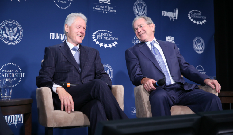 President George W. Bush and President Bill Clinton will participate in a conversation focused on leadership moderated by David Rubenstein at the George W. Bush Presidential Center in Dallas. The event is part of the graduation ceremony for 60 members of the 2017 Class of the Presidential Leadership Scholars (PLS) Program.