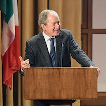 President George W. Bush Credits Free Trade Across North America as Key to Economic Advantage