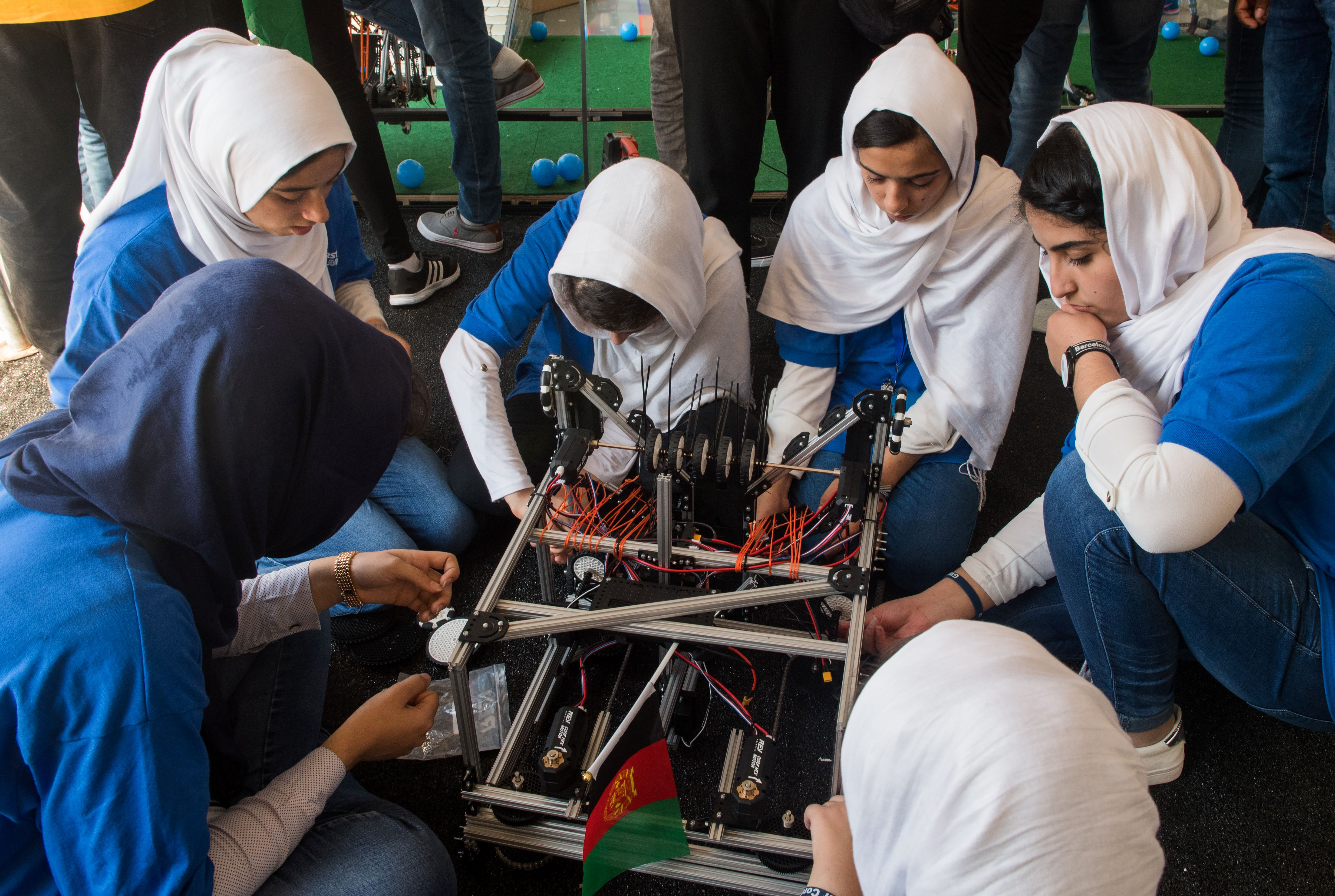 Afghan Girls in Global Robotics Competition are Afghanistan's Future