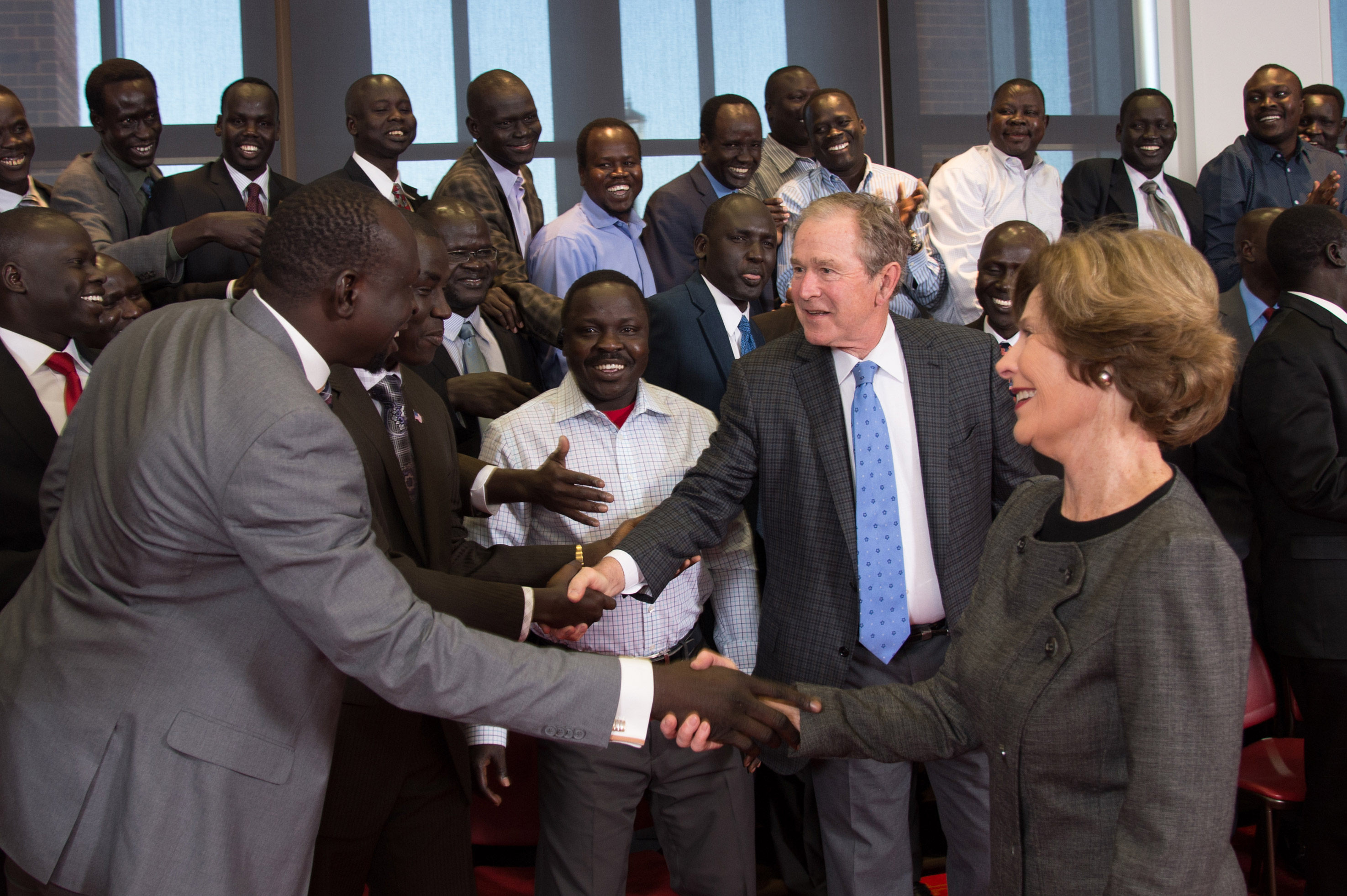President and Mrs. Bush Surprise Lost Boys and Girls of South Sudan
