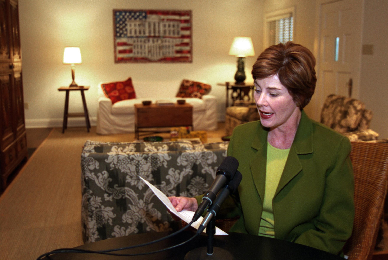 Mrs. Bush Discusses 15th Anniversary of Radio Address on Afghan Women