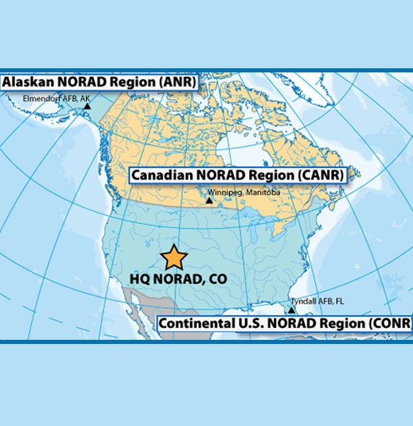 NORAD operational zones