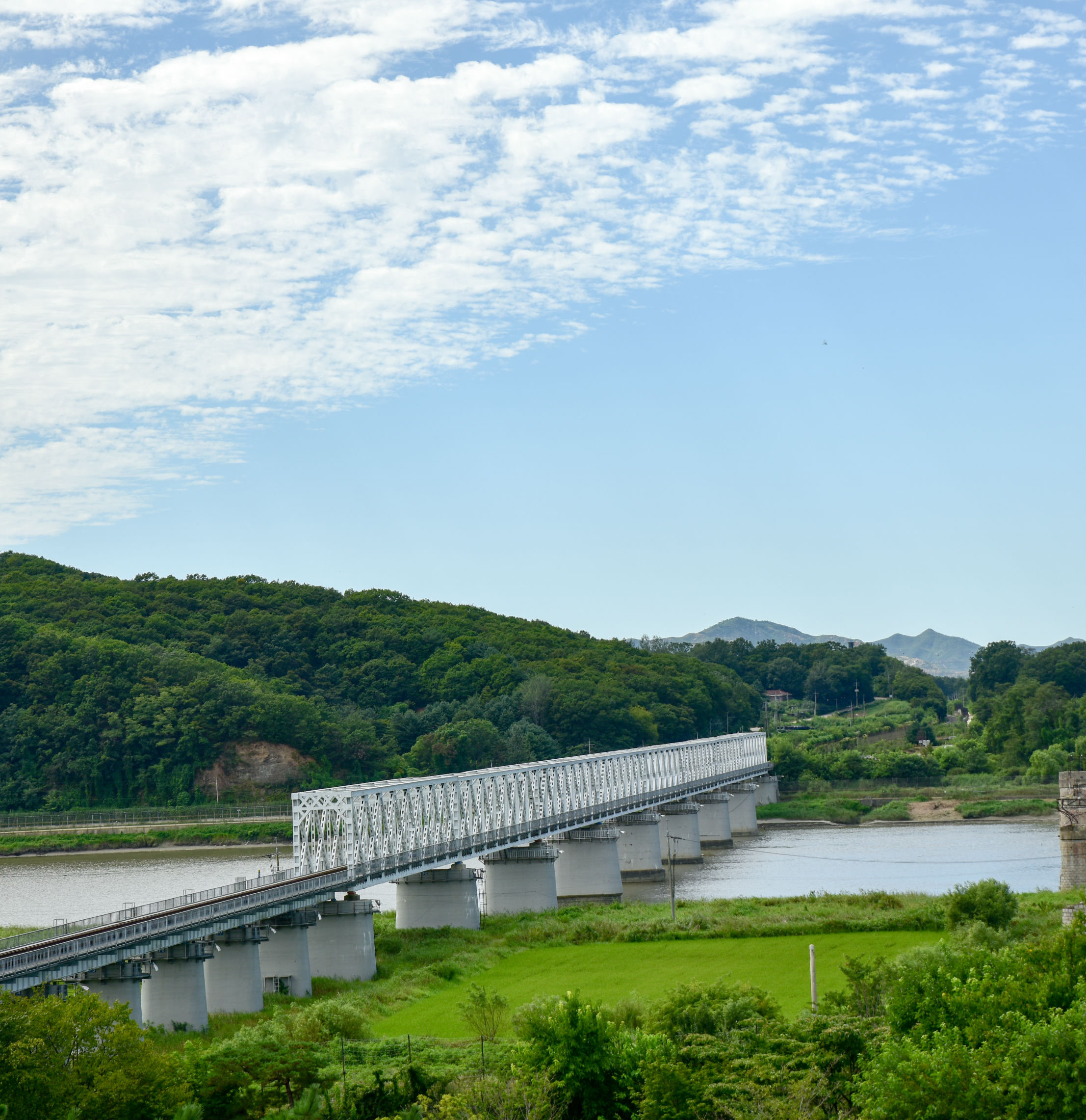 The Bridge of Freedom in Paju, Korea got its name when 13,000 war prisoners shouted