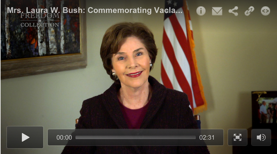 Mrs. Laura Bush Remembers Vaclav Havel
