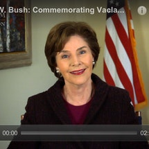 Mrs. Laura Bush Remembers Vaclav Havel