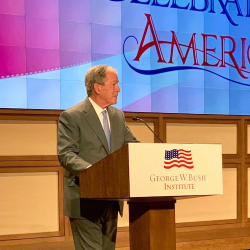 Remarks by President George W. Bush and Mrs. Laura Bush at a Naturalization Ceremony