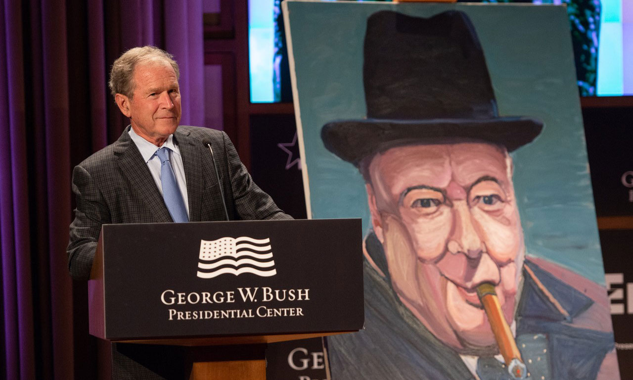 The Art Leadership Of Winston Churchill Bush Center