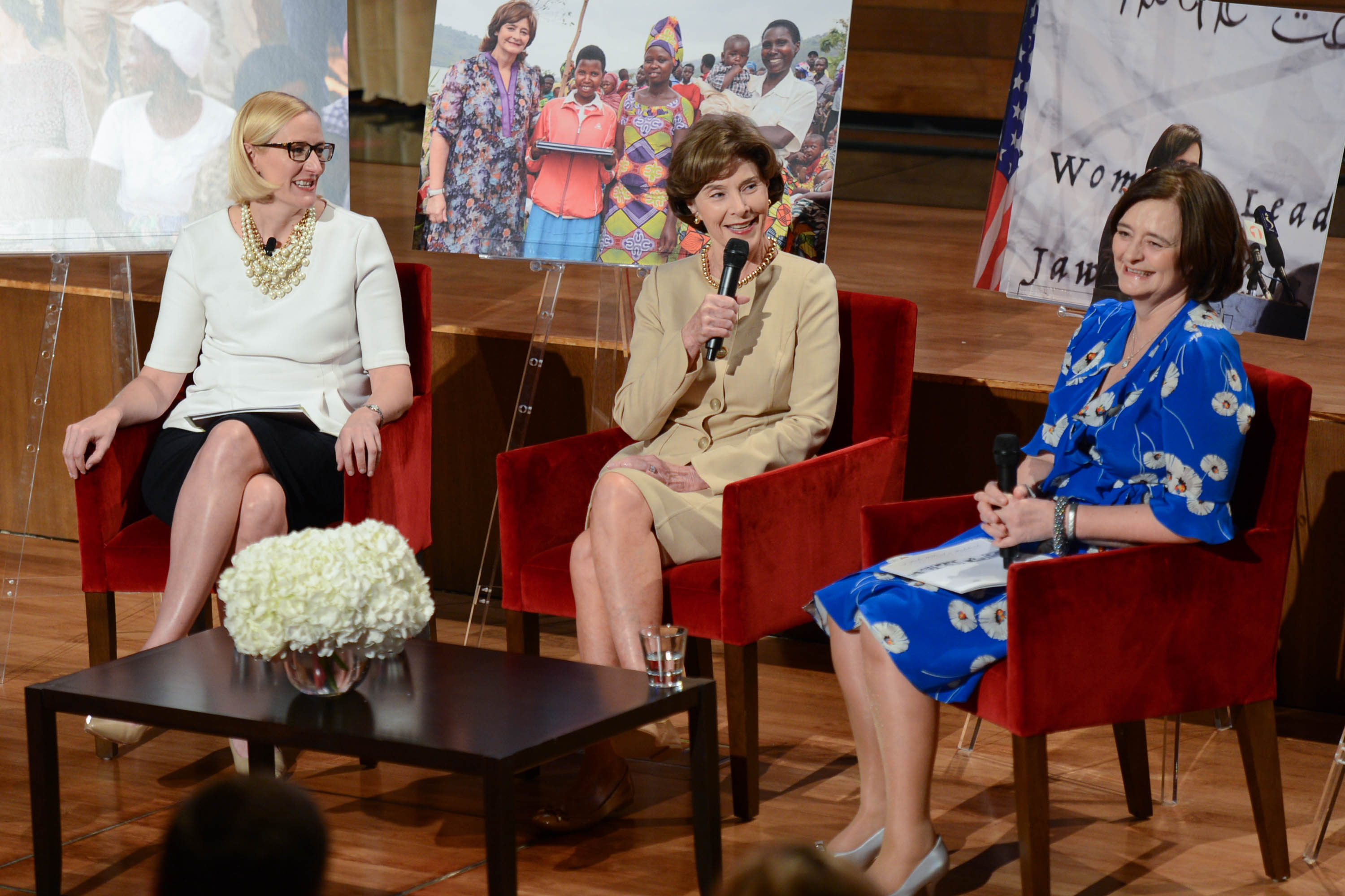 Mrs. Bush and Mrs. Blair Discuss the Role and Influence of First Ladies
