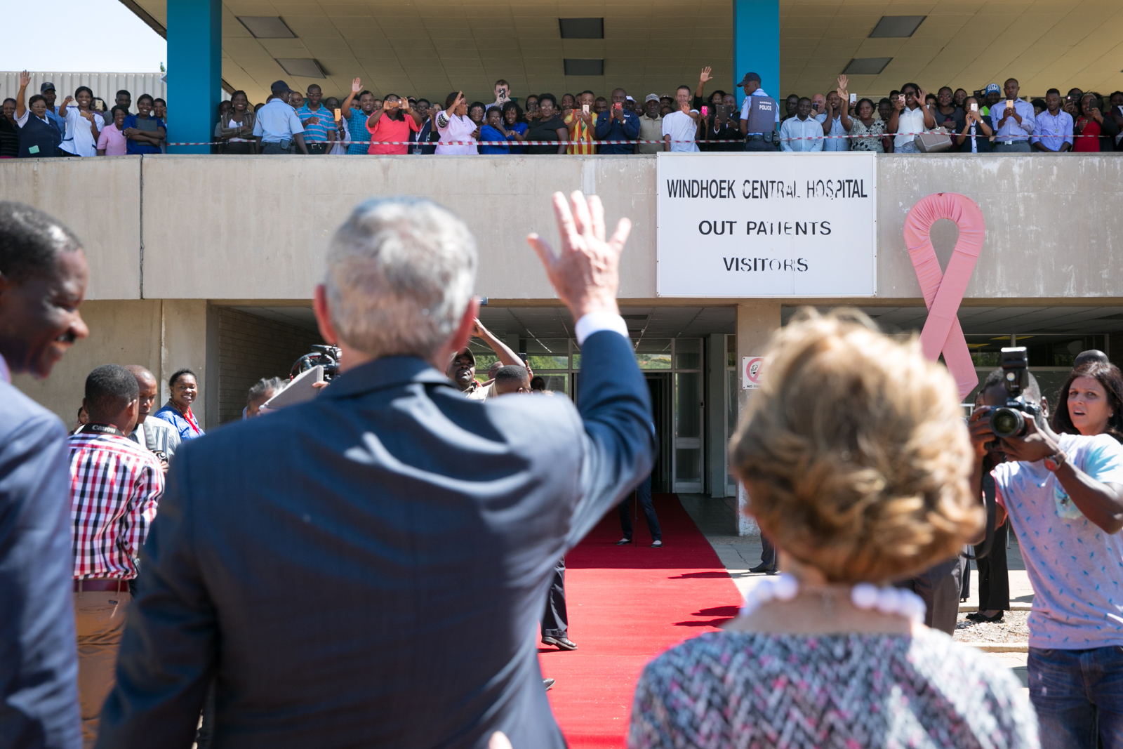 Remarks by President Bush at Windhoek Central Hospital