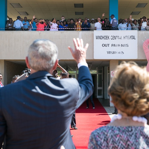 Remarks by President Bush at Windhoek Central Hospital