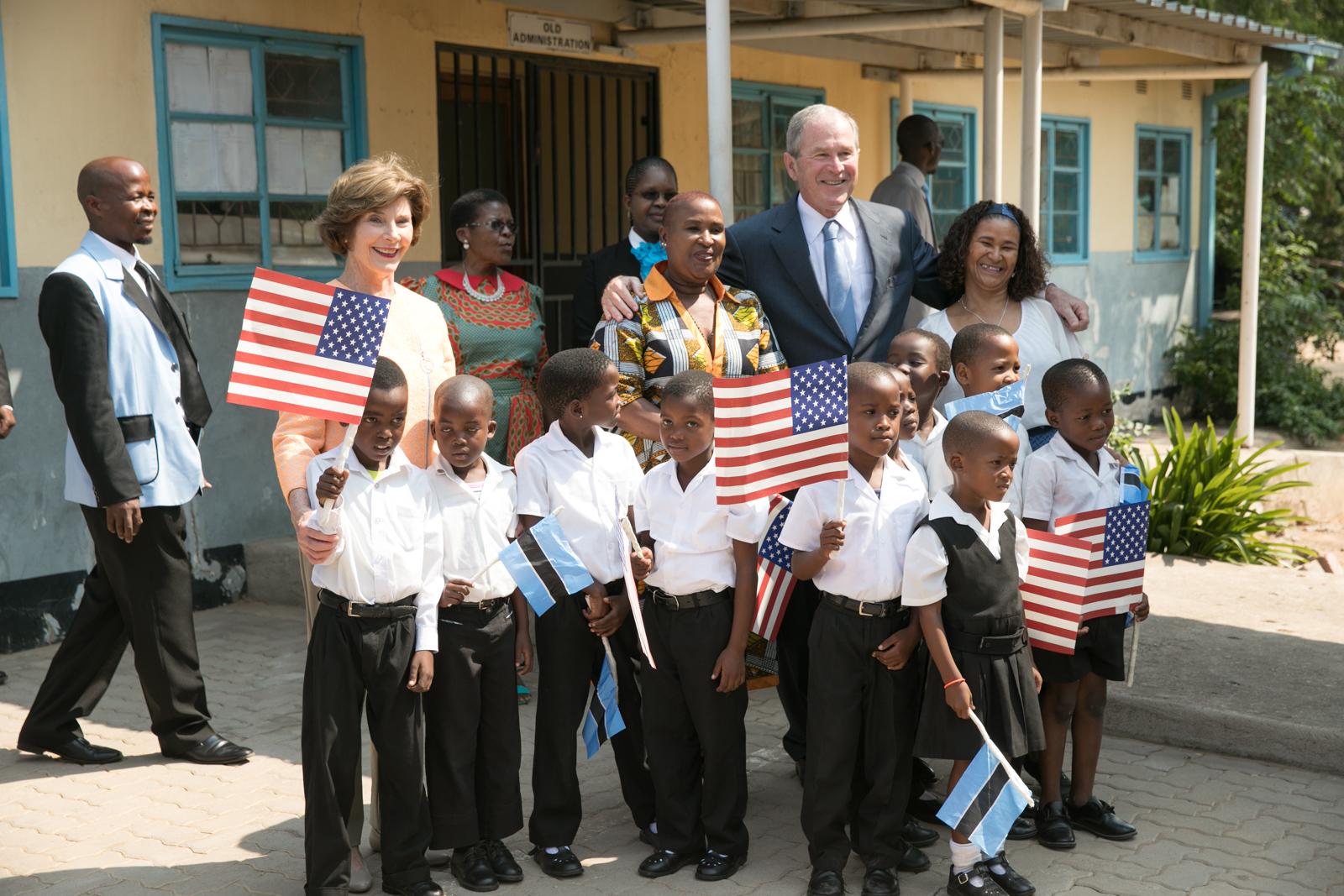 Brittney bain bush center follow president and mrs bushs visit to namibia and botswana malvernweather Choice Image