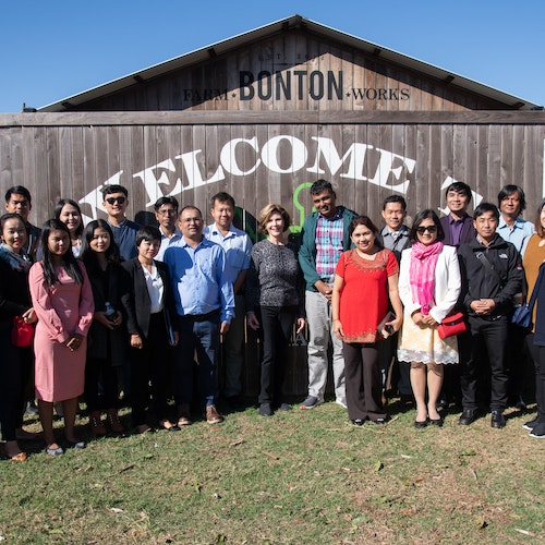 South Dallas's Bonton Farms Hosts Liberty and Leadership scholars and Mrs. Laura Bush