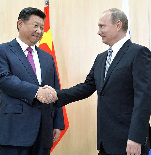 Xi Jinping of China and Vladimir Putin of Russia on July 8, 2015. (via www.kremlin.ru)