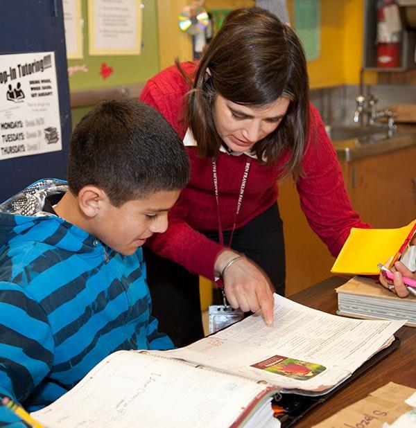 A teacher in action