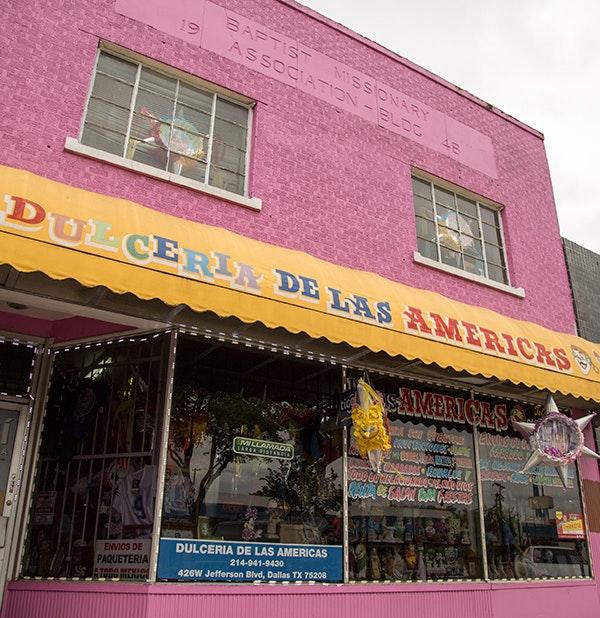 Mexican culture appears throughout the U.S., such as at the Dulcieria de las Americas shop in Dallas. (Andrew Kaufmann / George W. Bush Presidential Center)