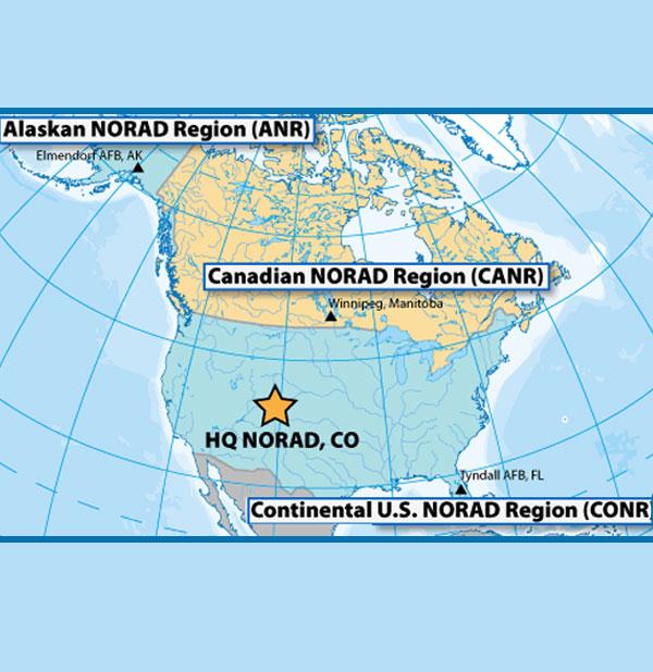 NORAD operational zones