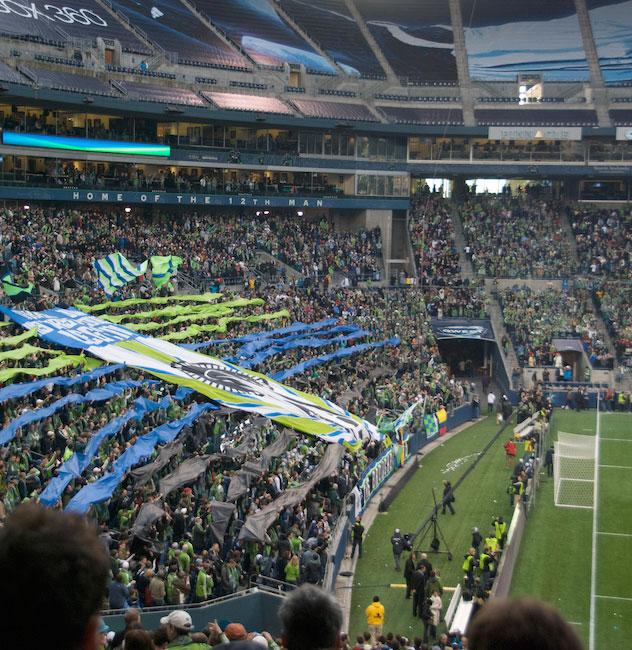 Major League Soccer's Seattle Sounders FC regularly draw capacity crowds of passionate fans. (Luis Antonio Rodríguez Ochoa)