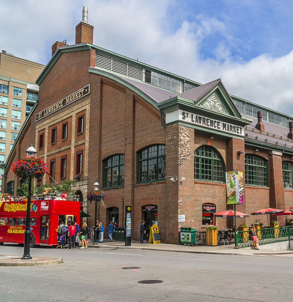 The St. Lawrence Market sits at the heart of the revitalized neighborhood in Toronto.