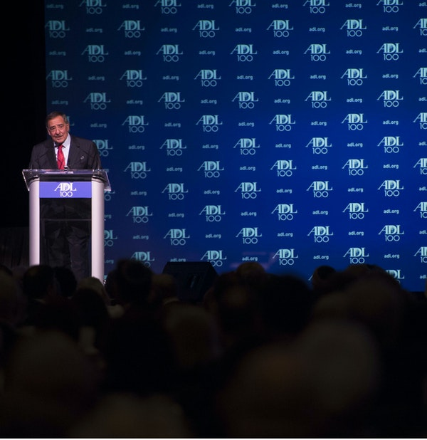 Former Secretary of Defense Leon Panetta speaks at the centennial dinner for the Anti-Defamation League in New York City, New York, Oct 31, 2013. Panetta was presented with the William and Naomi Gorowitz Institute Service Award for his dedication to equal rights throughout his career in public service. (Erin A. Kirk-Cuomo/DoD)
