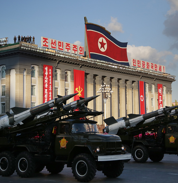 On October 10, 2015 North Korean leader Kim Jong Un declared that his country was ready to stand up to any threat posed by the U.S. (Wong Maye-E/AP Photo)