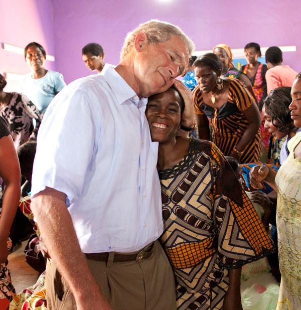 President Bush in Zambia in 2011. (Paul Morse / George W. Bush Presidential Center)