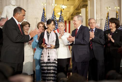 The Lady of Burma comes to Washington -- at last