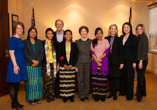 President and Mrs. Bush Meet With Burmese Freedom Activists
